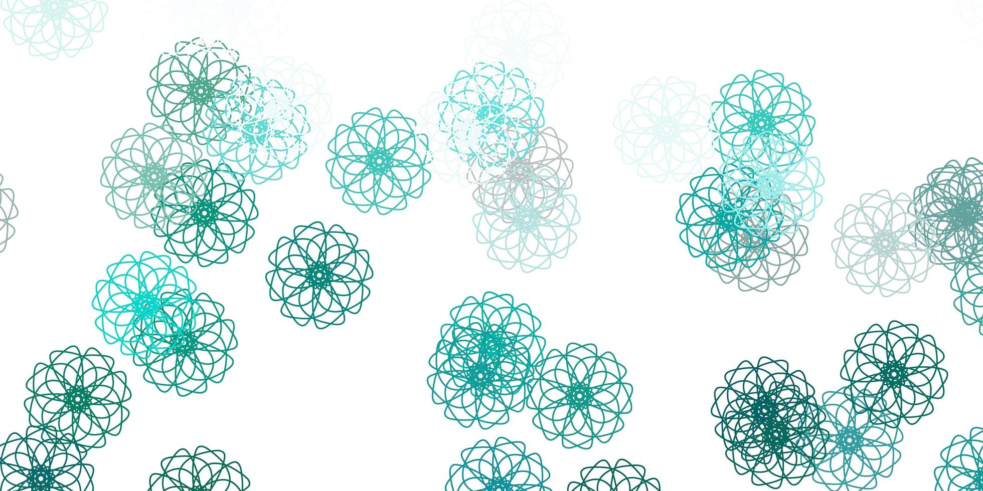 Light blue, green vector natural backdrop with flowers.
