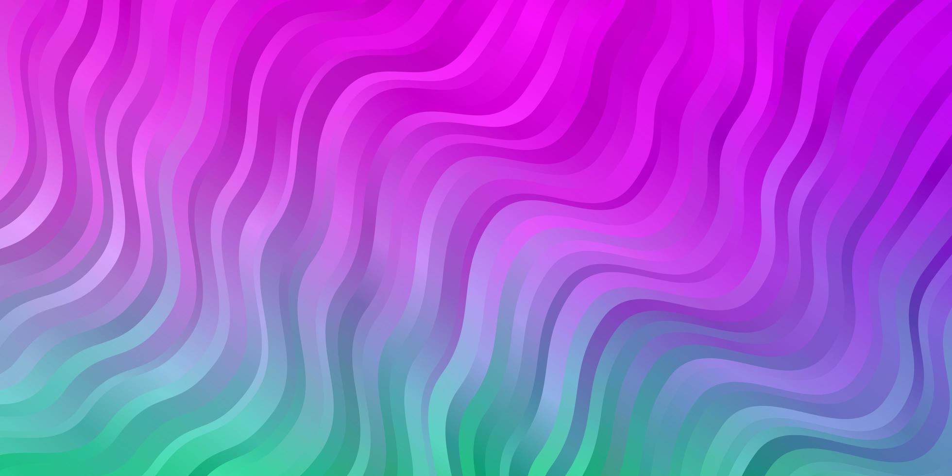 Fondo de vector de color rosa claro, verde con arco circular.