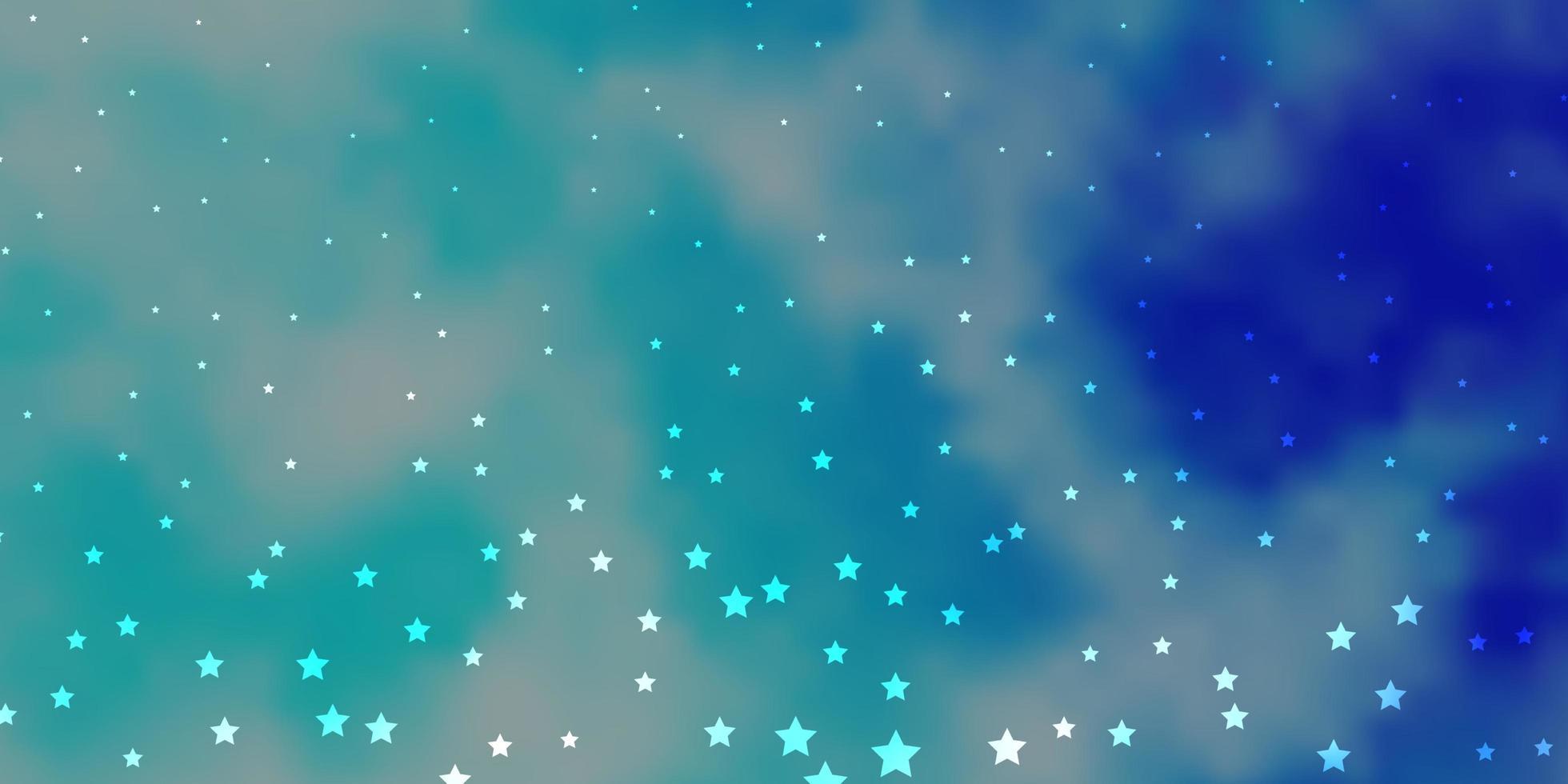 patrón de vector azul oscuro con estrellas abstractas.