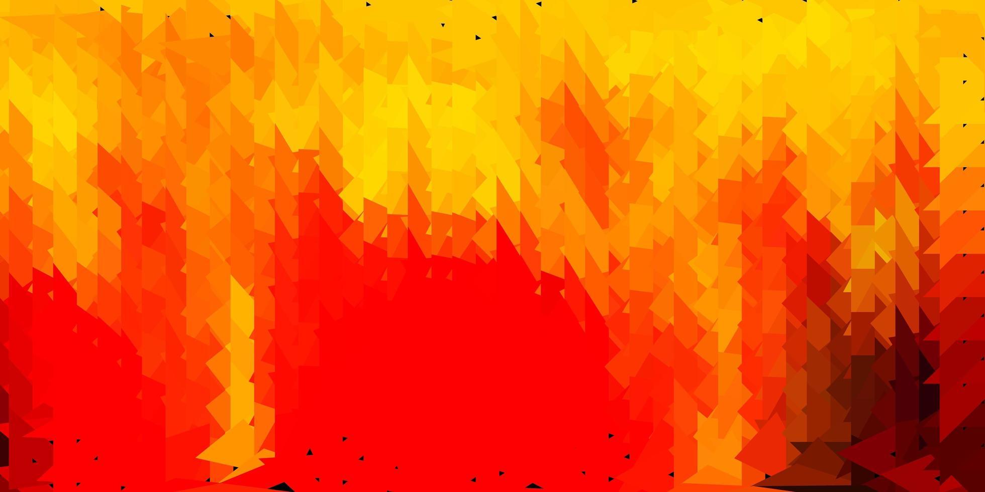 diseño poligonal geométrico vector naranja oscuro.