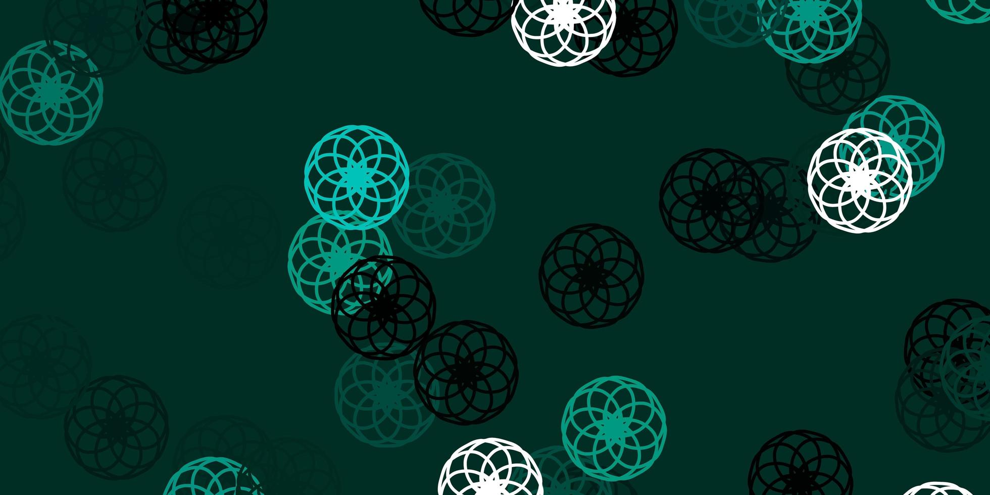 Light Green vector pattern with spheres