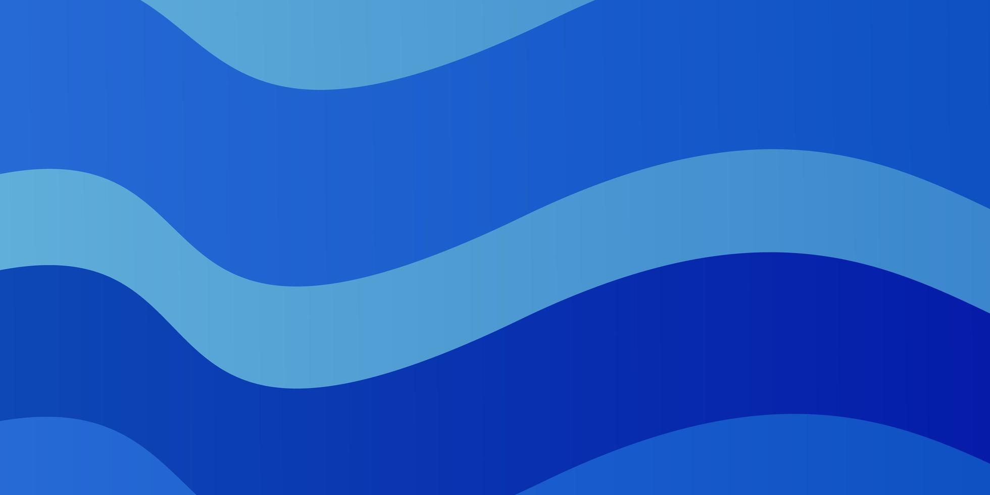 plantilla de vector azul claro con líneas torcidas.