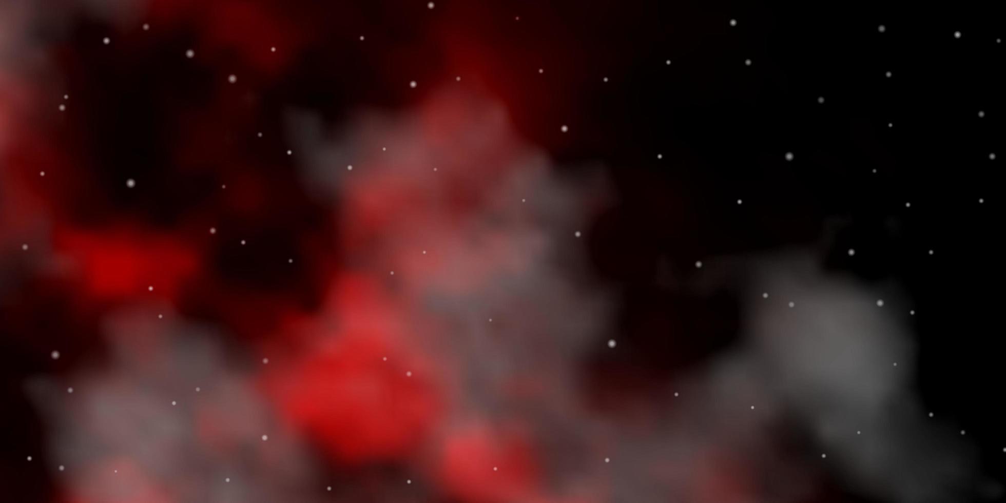 textura de vector rojo oscuro con hermosas estrellas