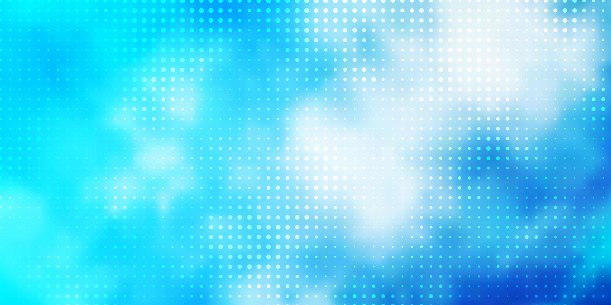 plantilla de vector azul claro con círculos