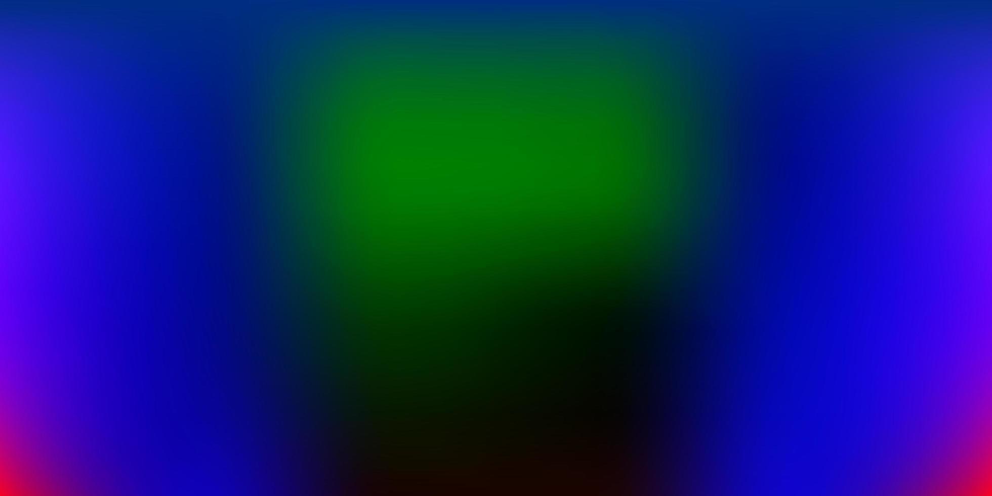 fondo borroso vector multicolor oscuro.