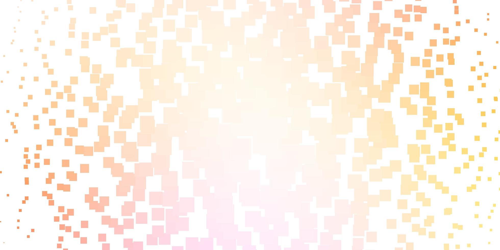 plantilla de vector de color rosa claro, amarillo con rectángulos.