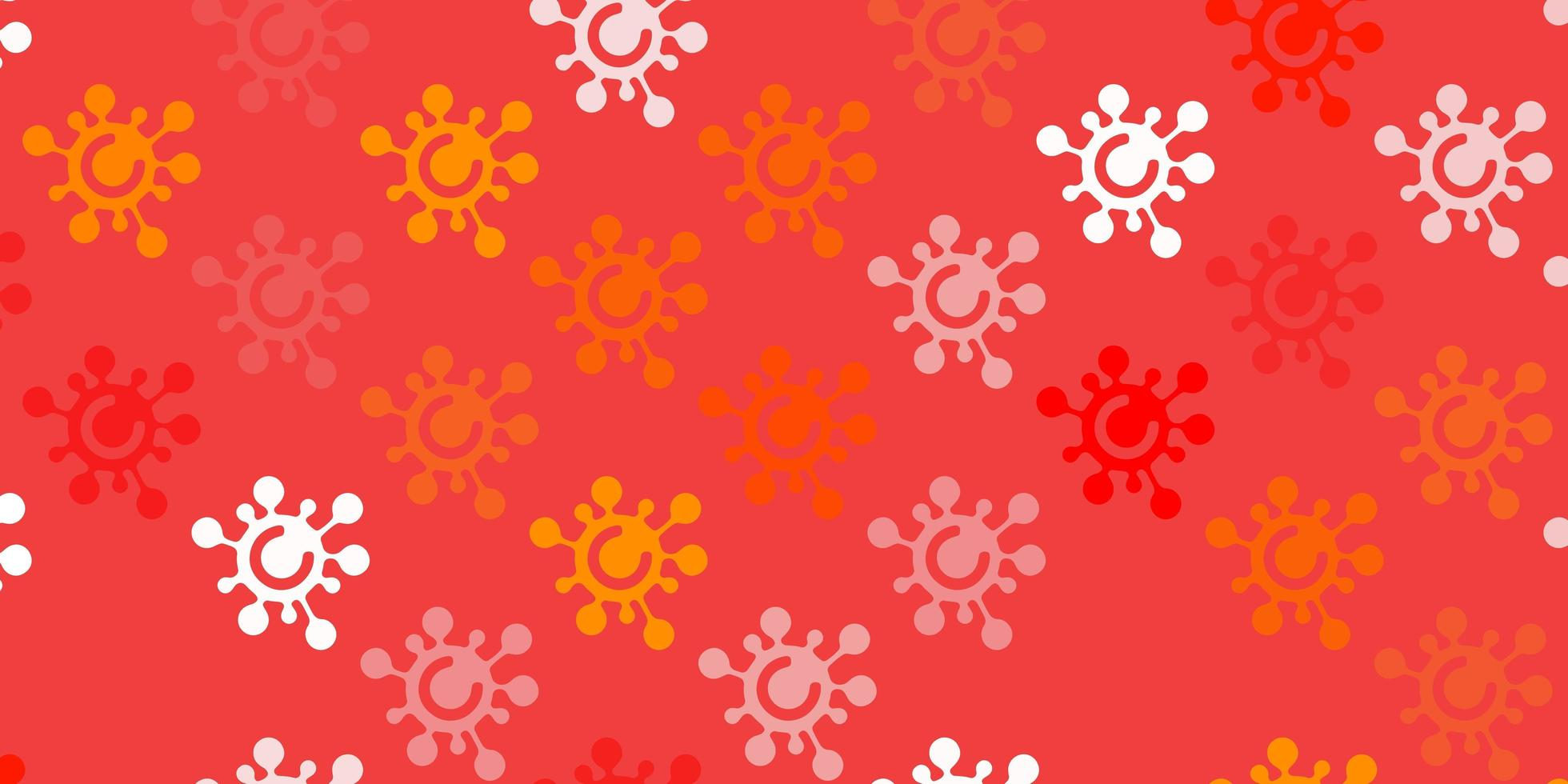 Light Red vector backdrop with virus symbols.