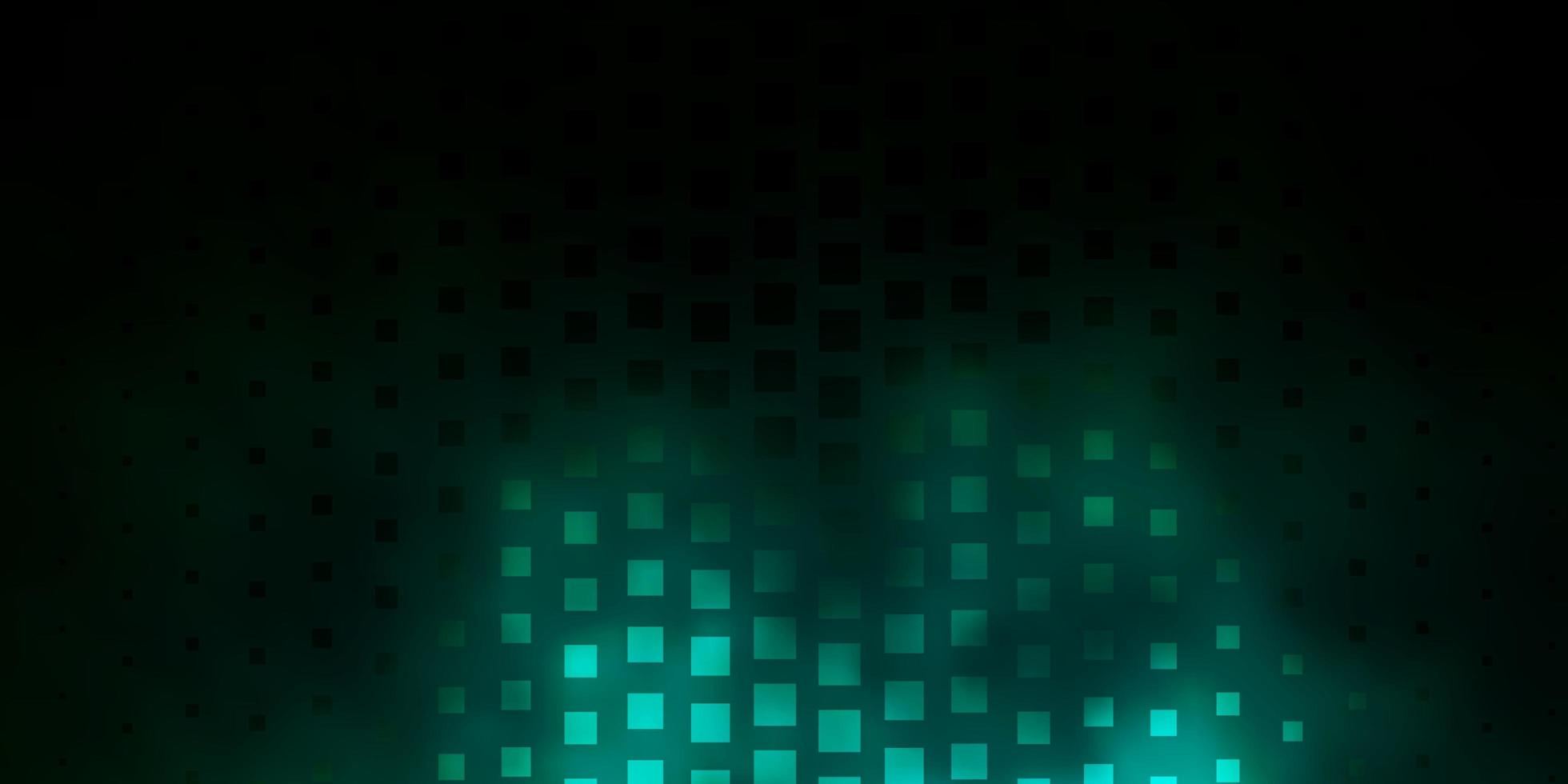 Dark Green vector background with rectangles.