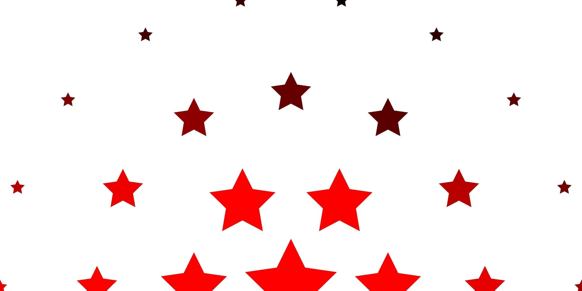 Light Red vector background with colorful stars.