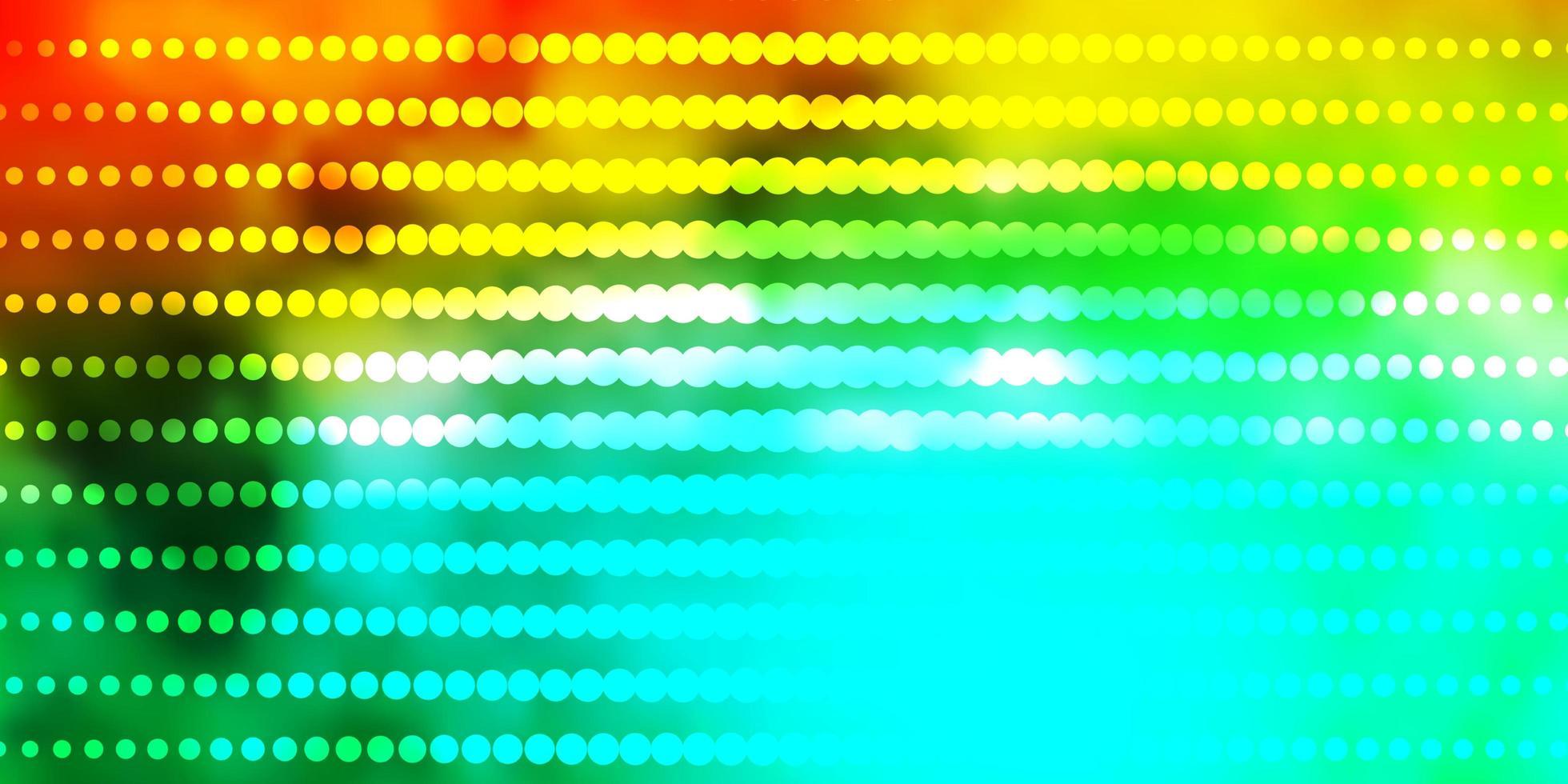 diseño de vector verde claro, amarillo con círculos.