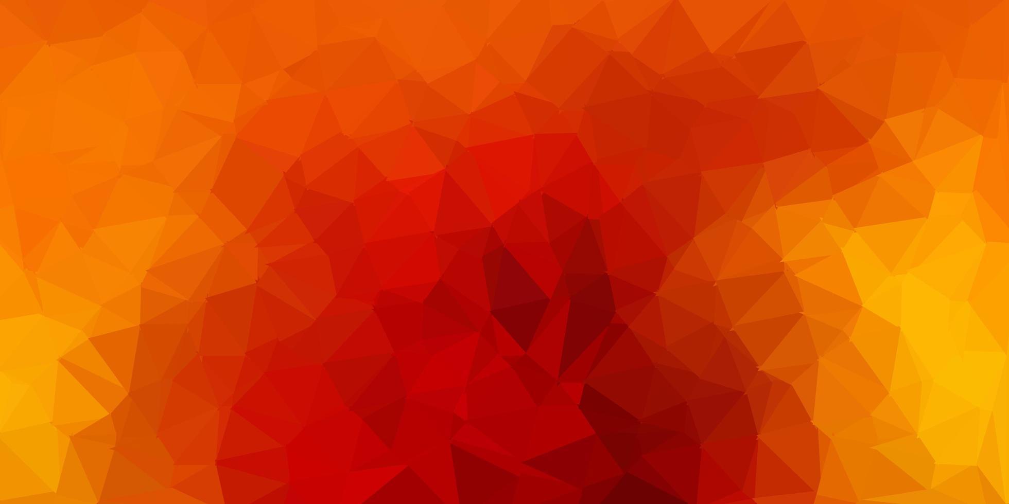 telón de fondo poligonal vector marrón oscuro.