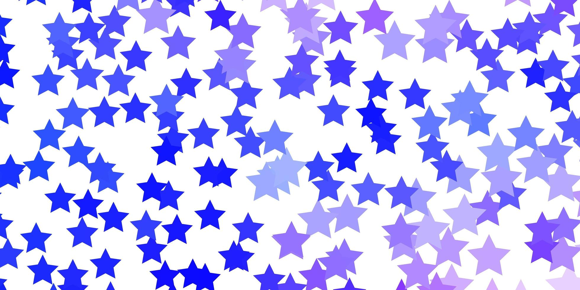 Light Pink, Blue vector texture with beautiful stars.