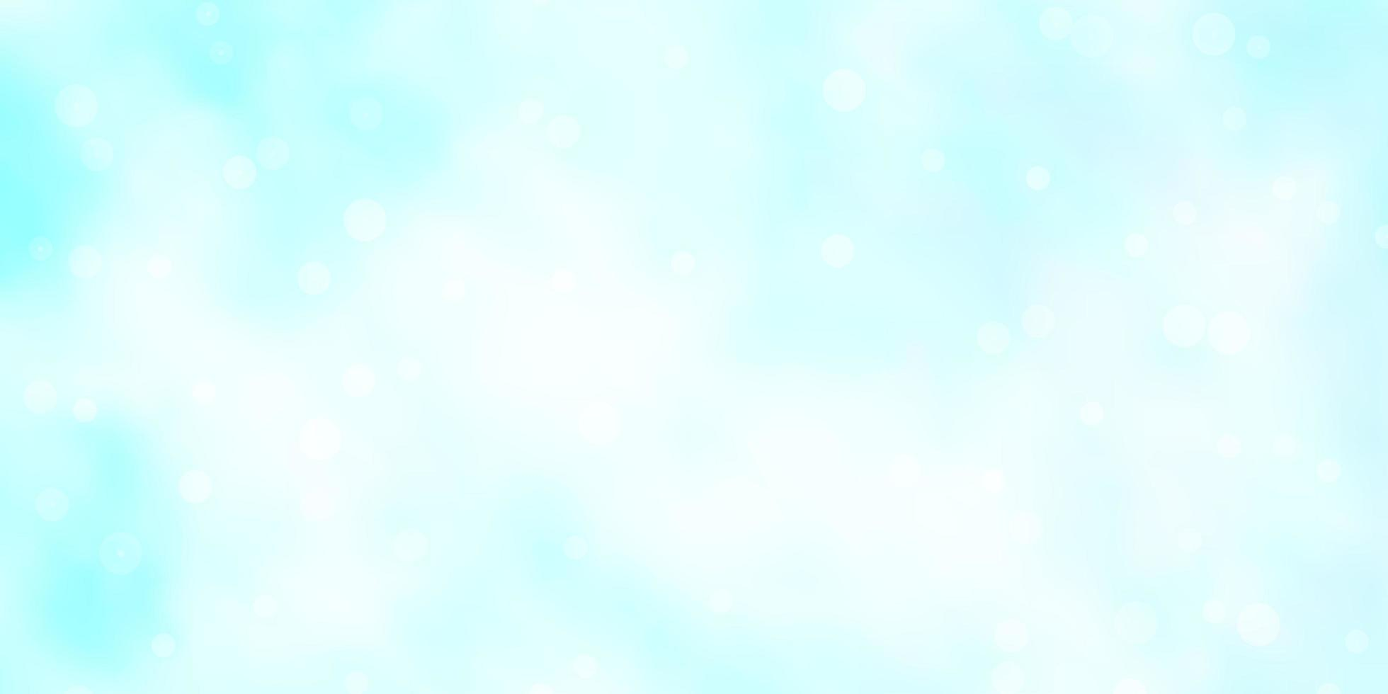 Fondo de vector azul claro con estrellas pequeñas y grandes.