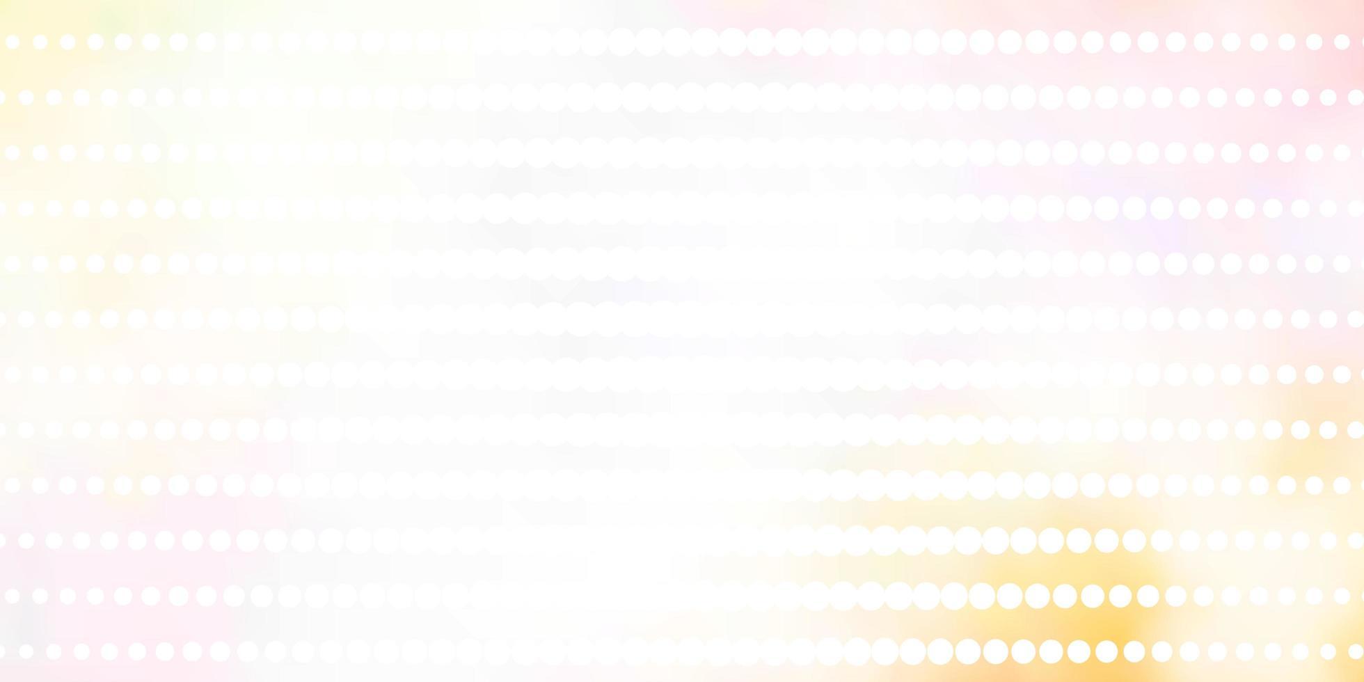 Light Orange vector pattern with circles