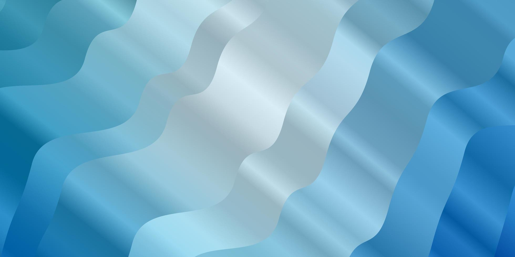 Light BLUE vector background with curved lines