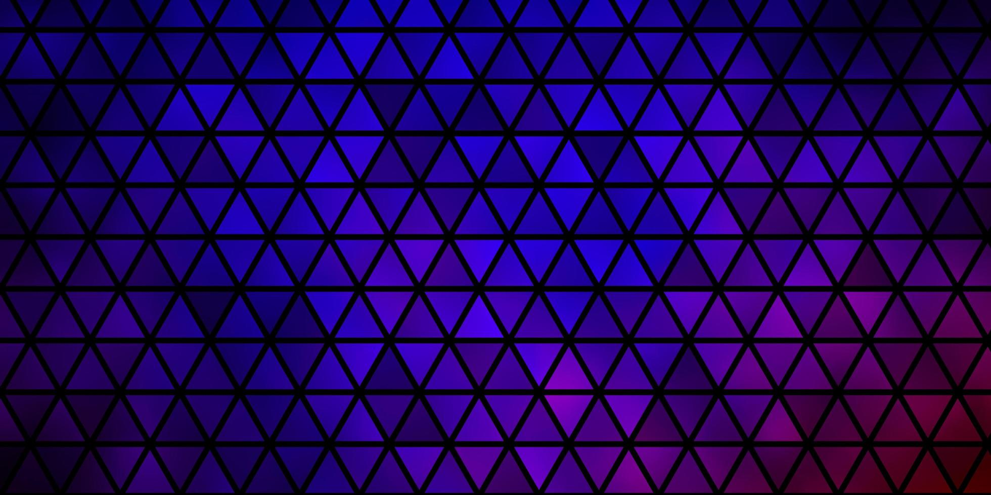 Dark Blue, Red vector pattern with polygonal style.