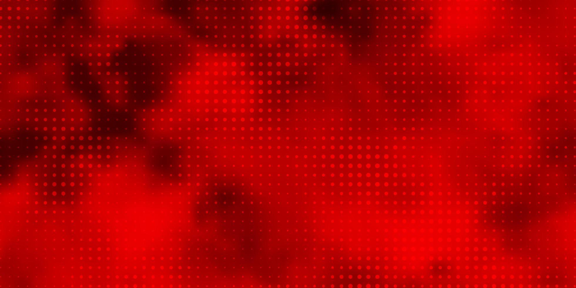 Fondo de vector rojo claro con círculos.