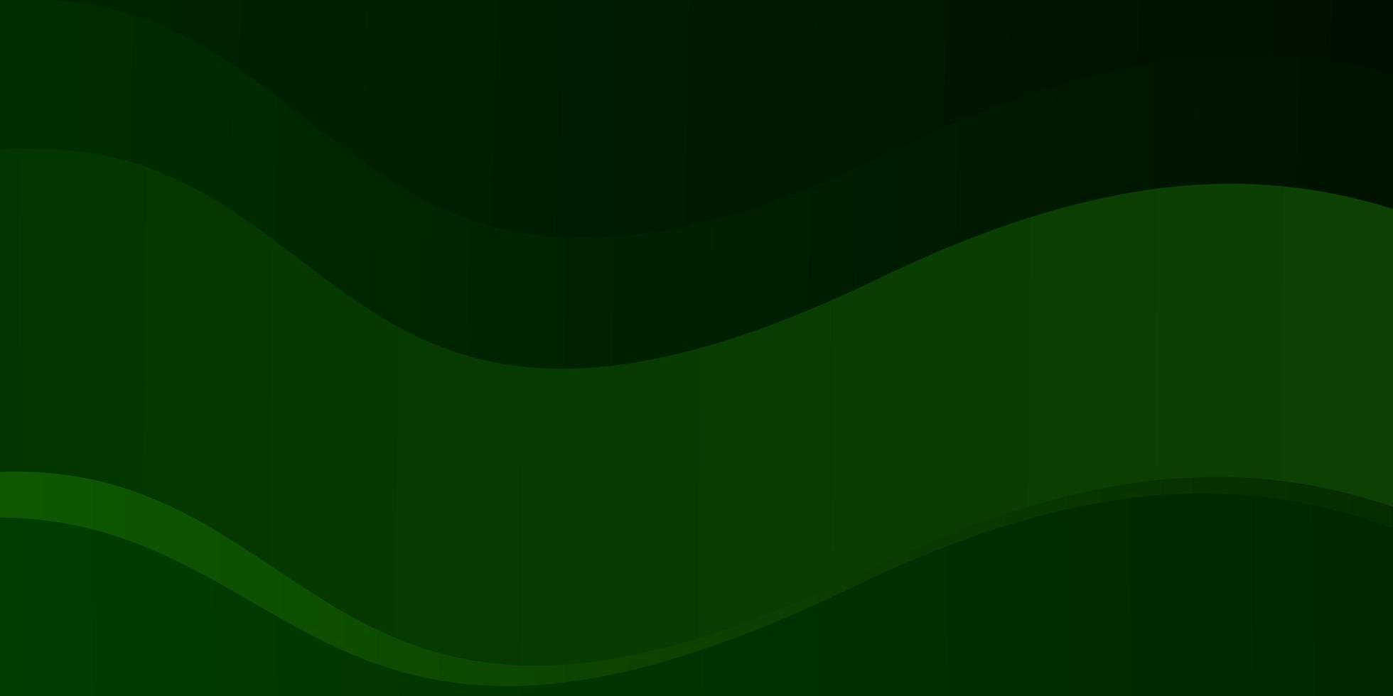 patrón de vector verde claro con líneas torcidas.