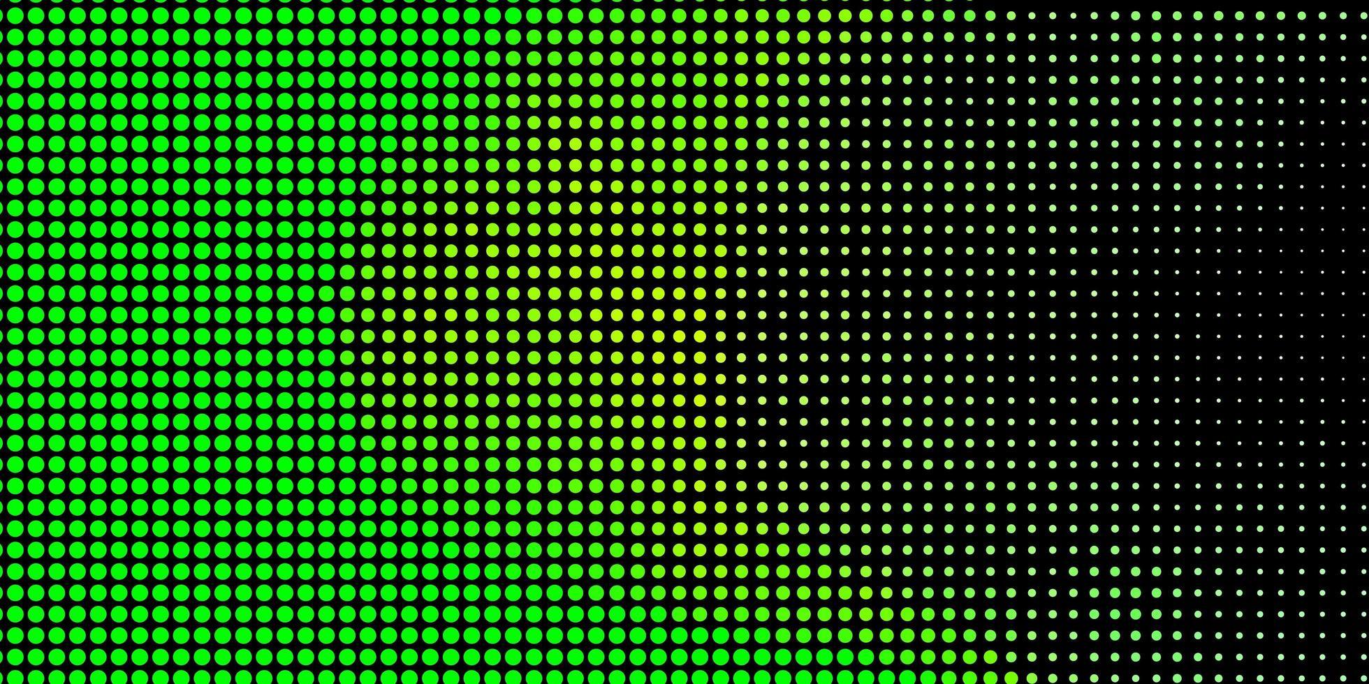 textura de vector verde claro con círculos.