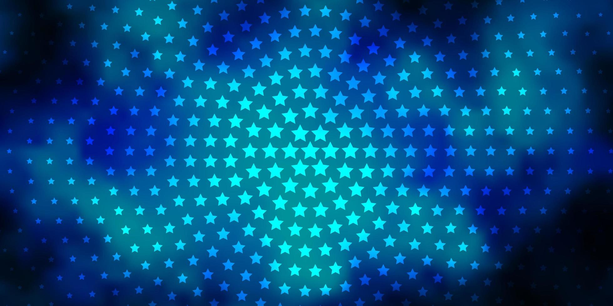 plantilla de vector azul oscuro con estrellas de neón.