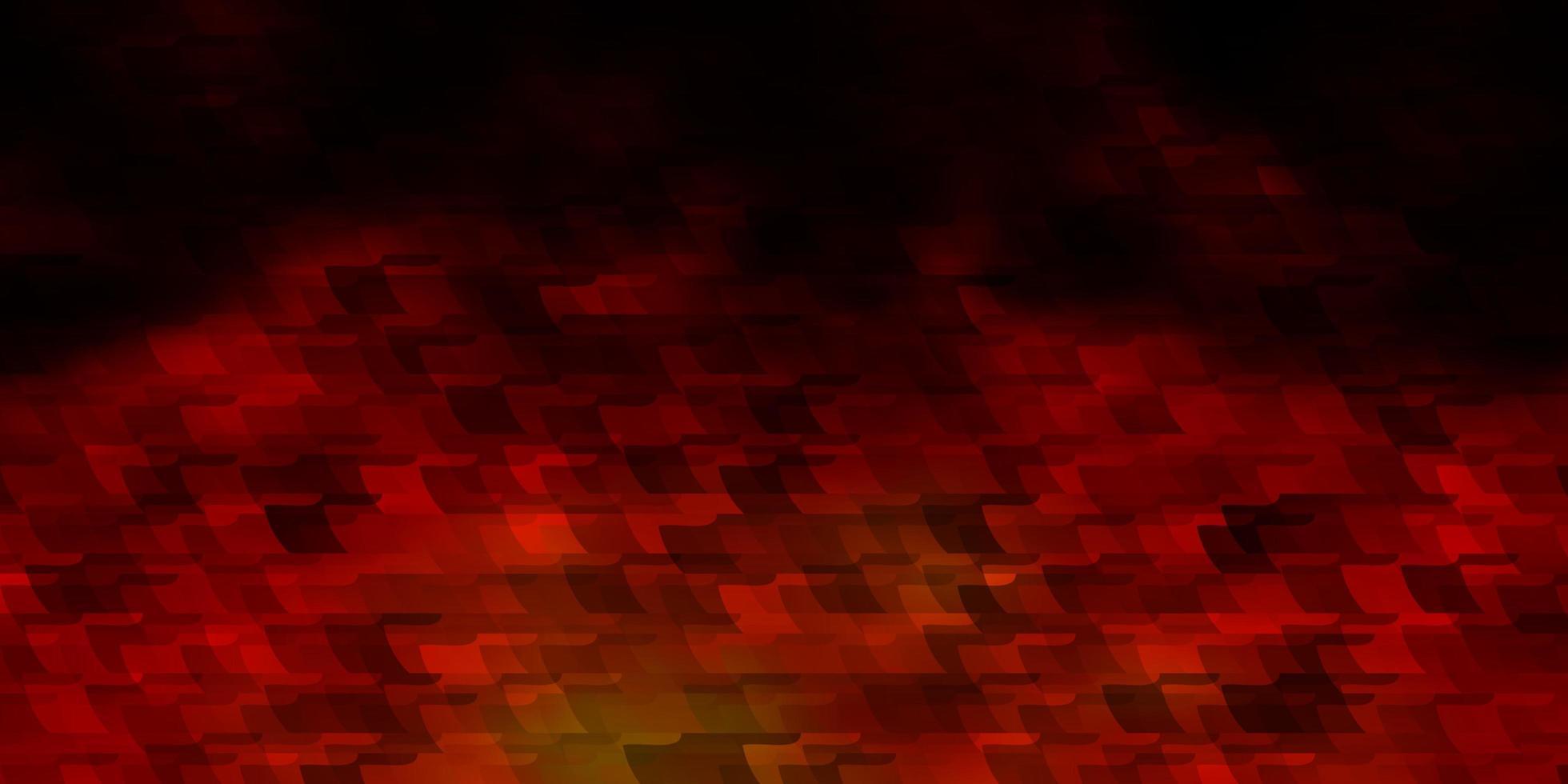 Telón de fondo de vector rojo oscuro con rectángulos.