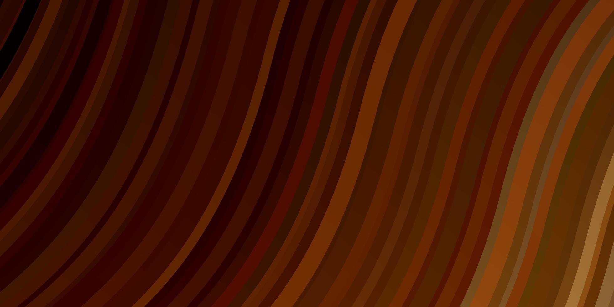 diseño vectorial naranja oscuro con líneas torcidas. vector