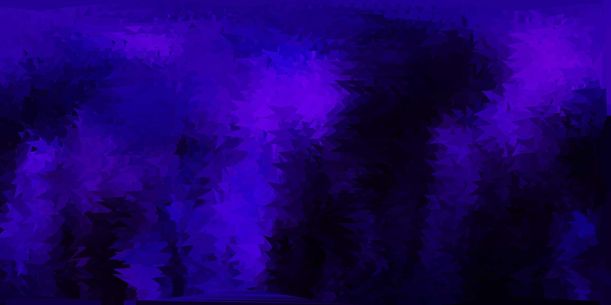 Fondo de pantalla de mosaico de triángulo vector púrpura oscuro.