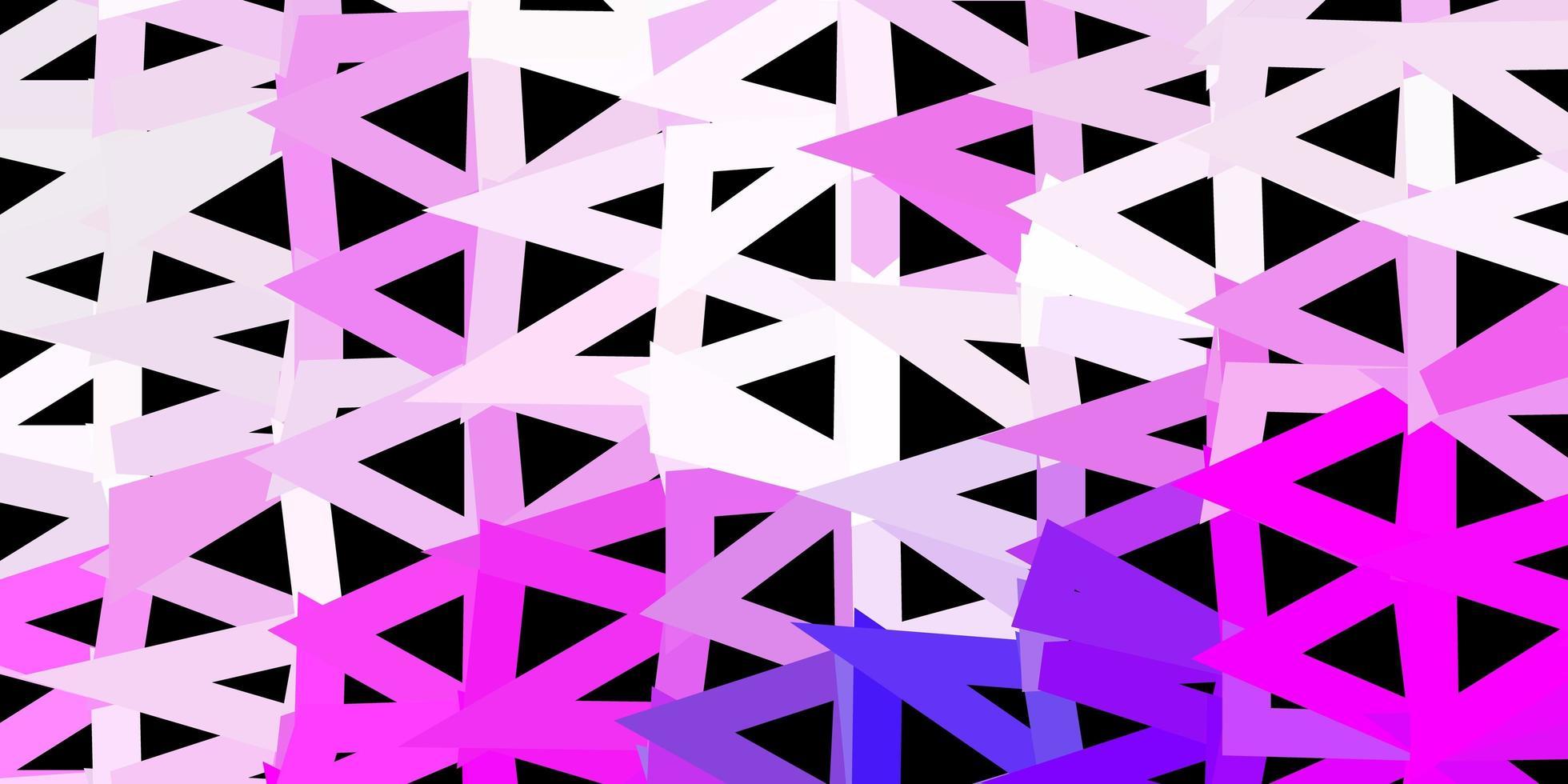 patrón de triángulo abstracto vector púrpura claro, rosa.
