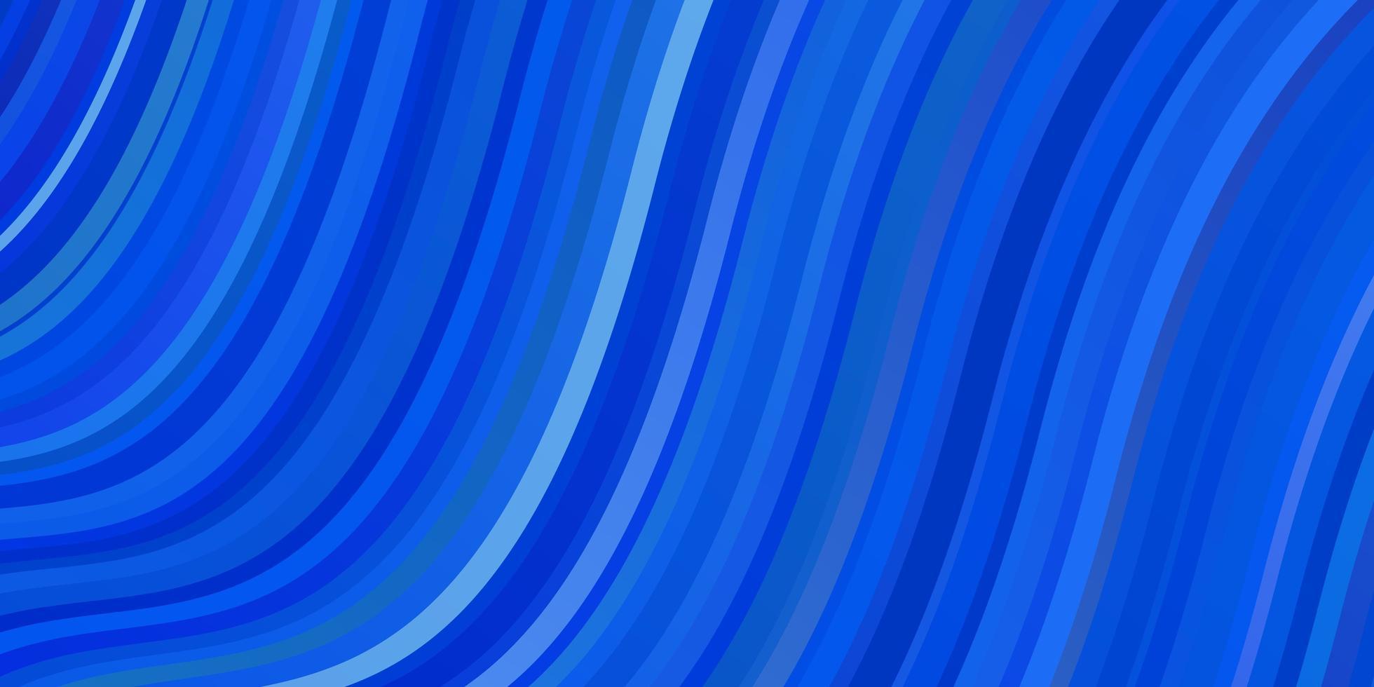 diseño de vector azul claro con curvas.