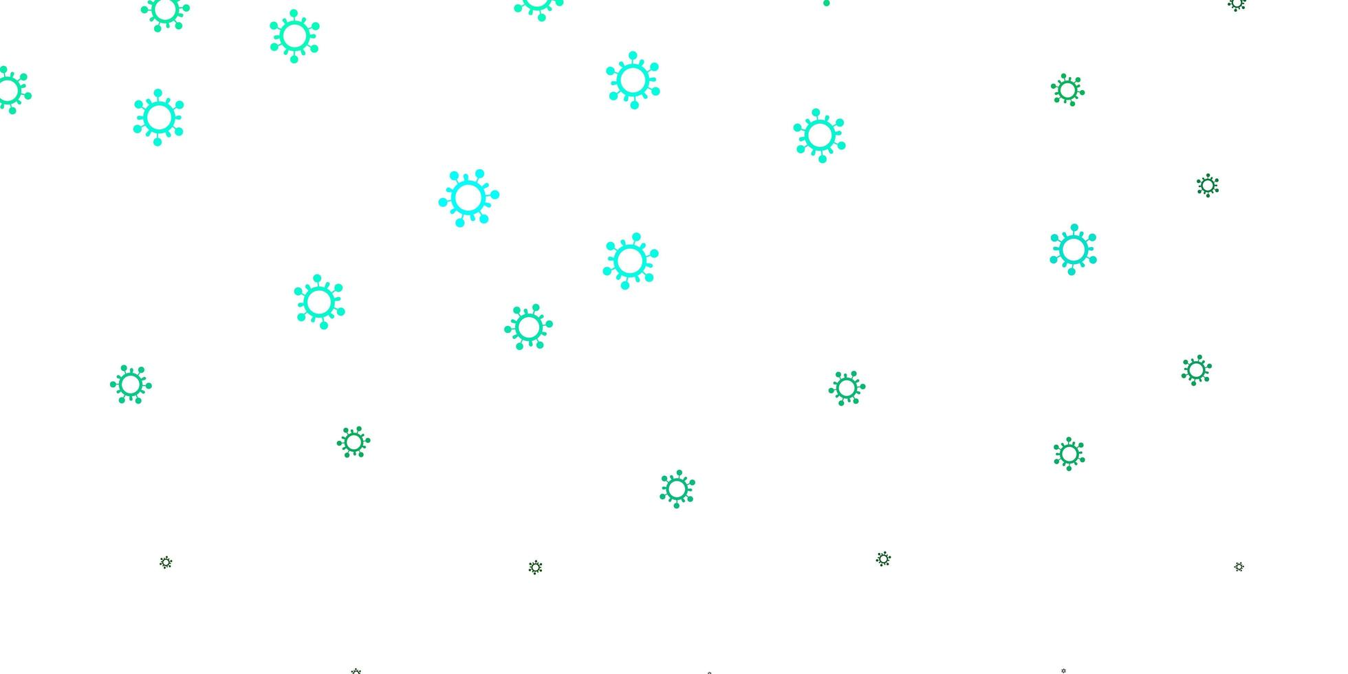 patrón de vector verde claro con elementos de coronavirus.