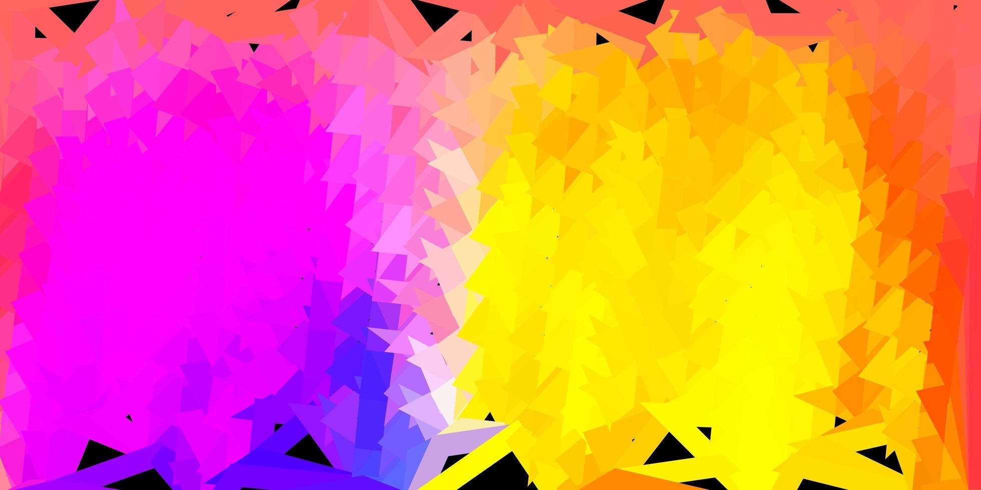 patrón de mosaico de triángulo vector azul claro, amarillo.