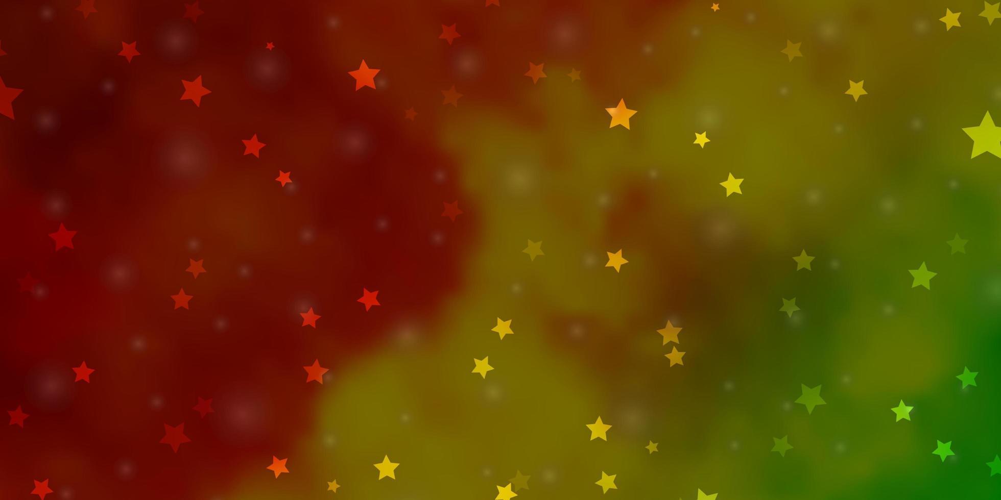 diseño de vector verde claro, amarillo con estrellas brillantes.
