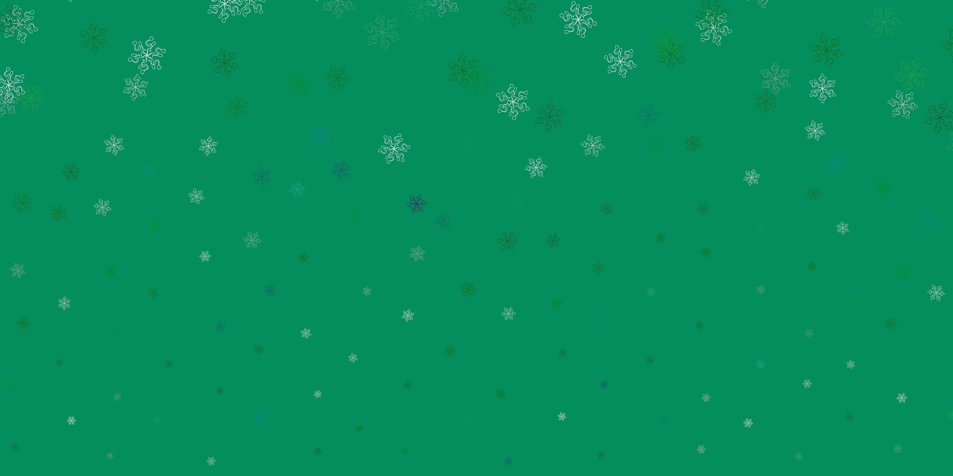 ilustraciones naturales del vector verde claro con flores.