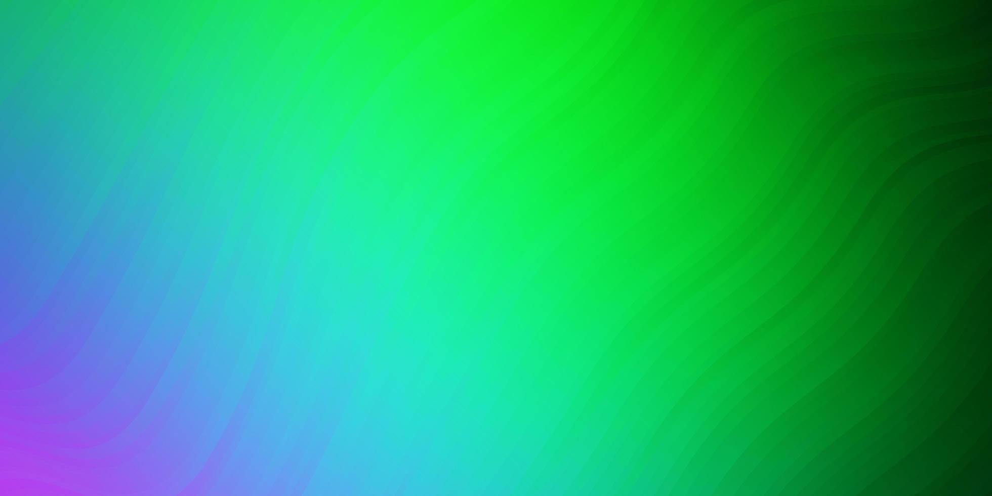 plantilla de vector rosa claro, verde con curvas