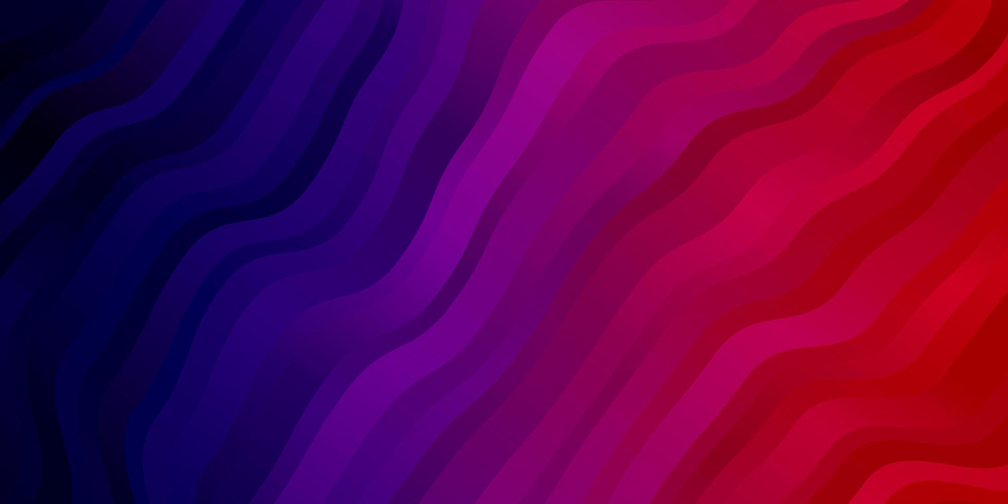 Dark Purple, Pink vector template with curved lines.