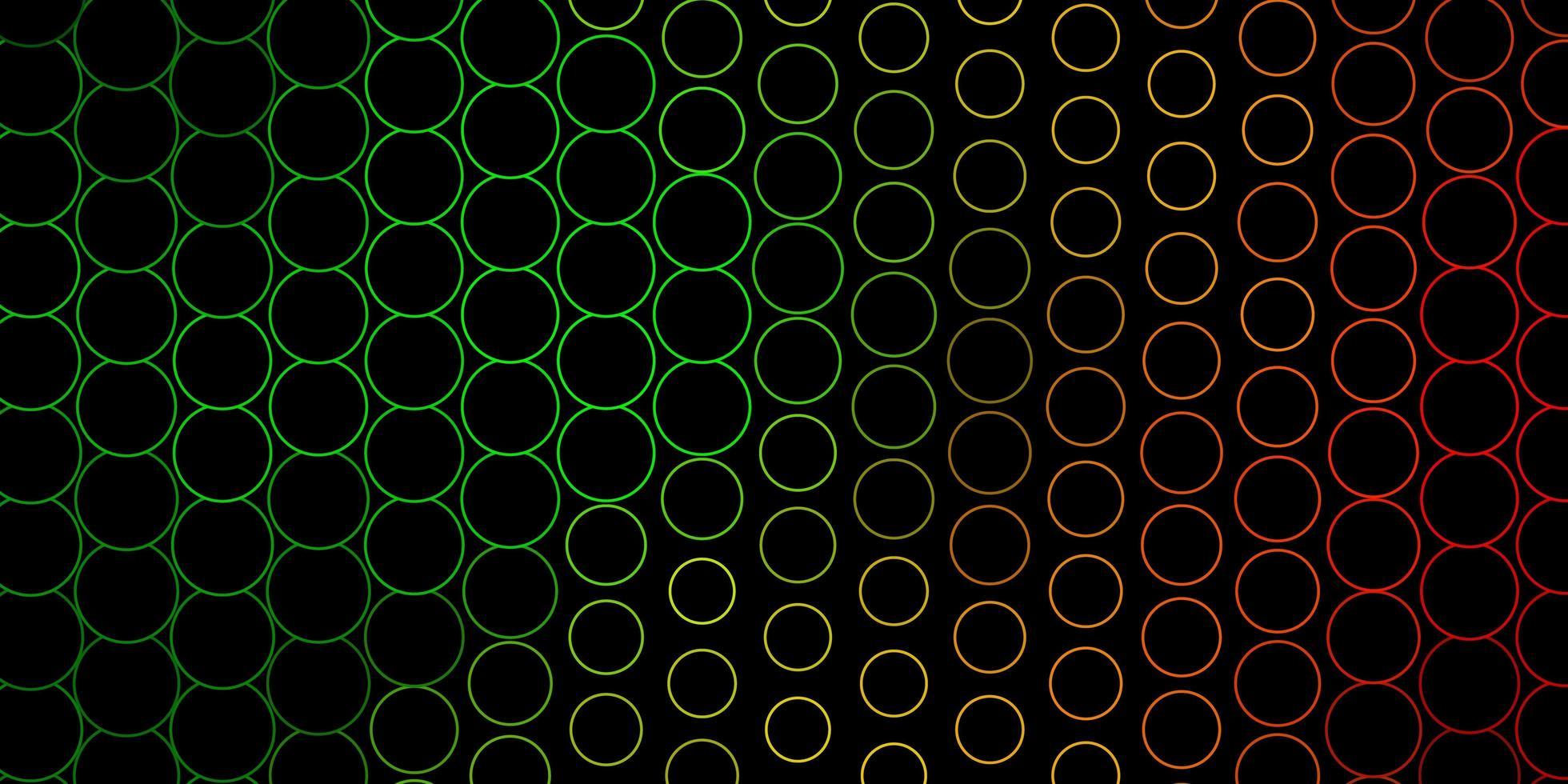 Fondo de vector verde oscuro, amarillo con puntos.
