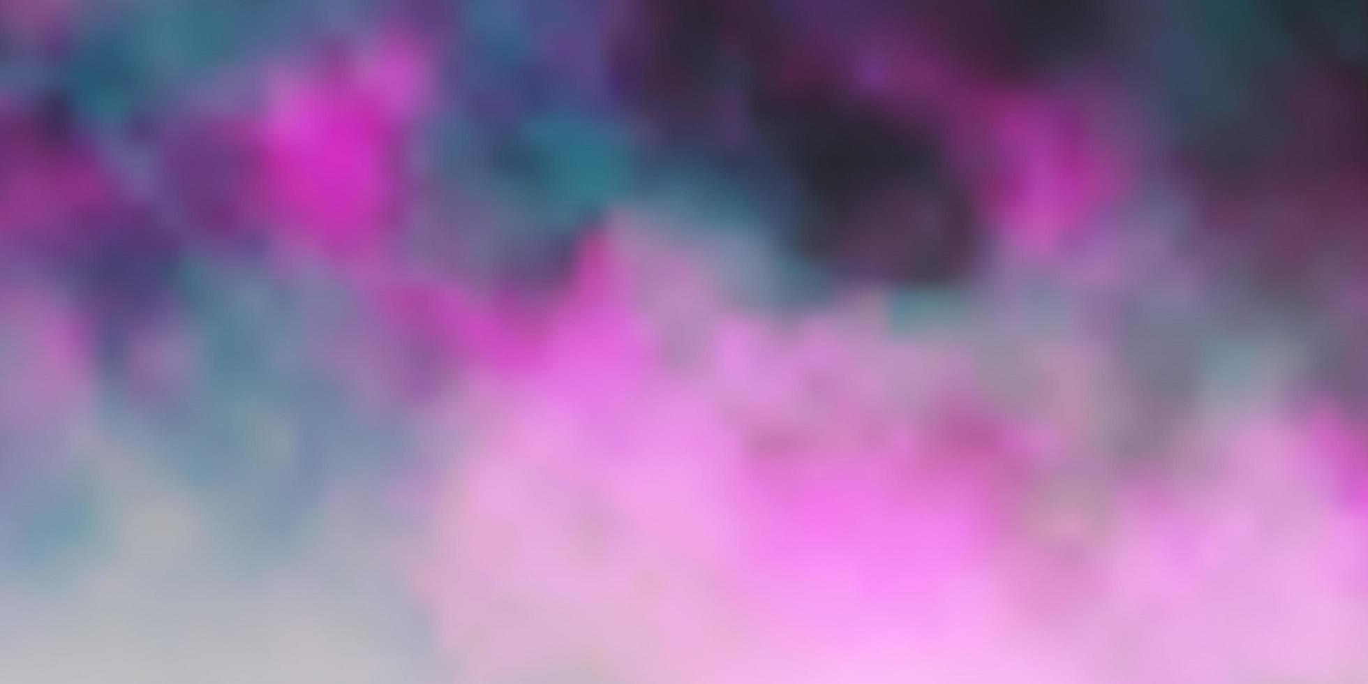 Dark Pink vector pattern with clouds.