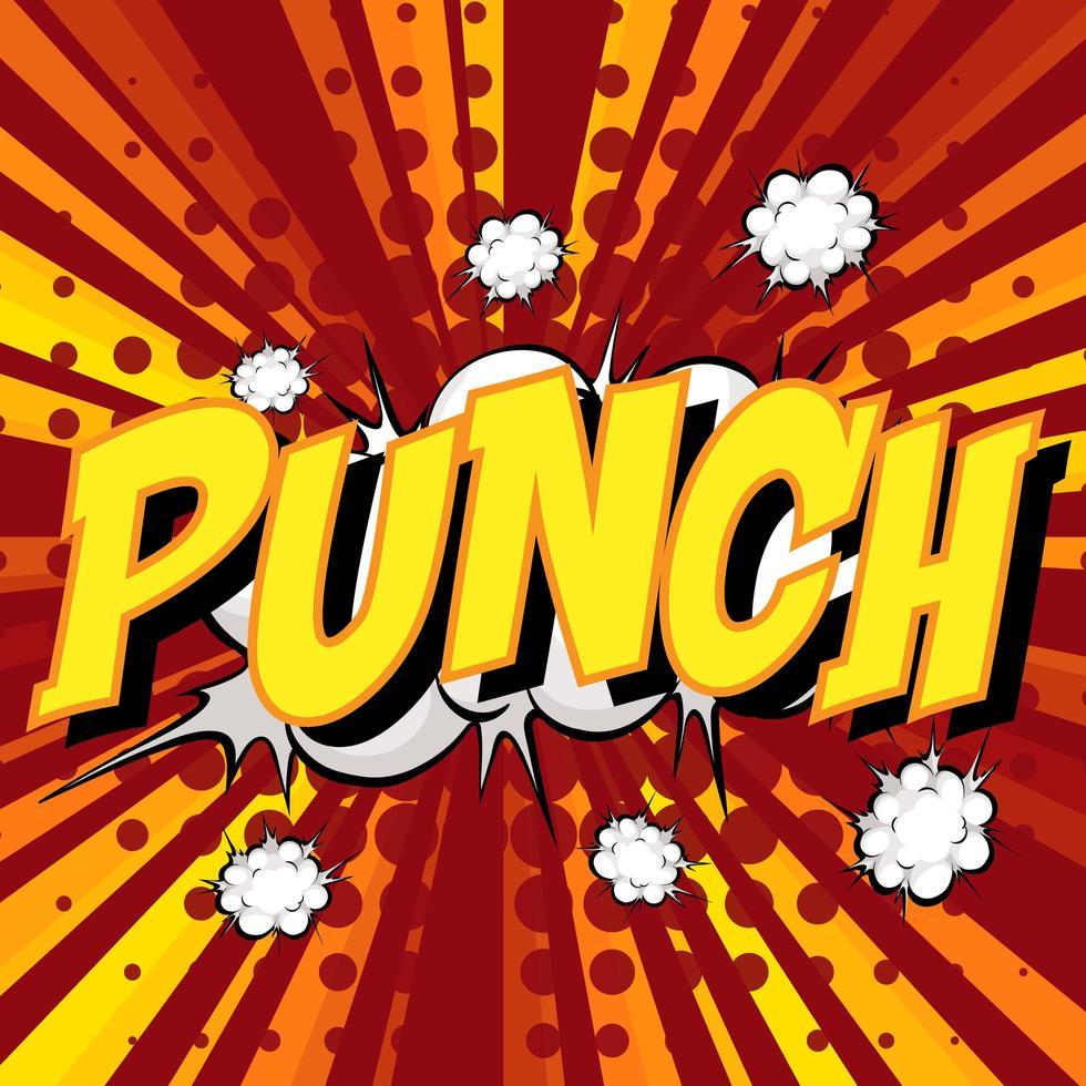 punch redacción comic bocadillo de diálogo en ráfaga vector