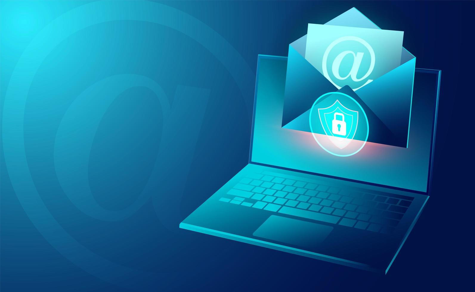 Email service security banner vector