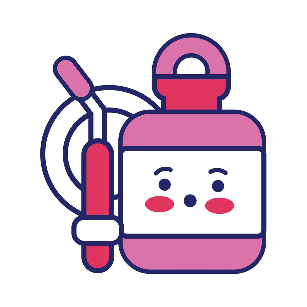 donation blood bag kawaii line style vector