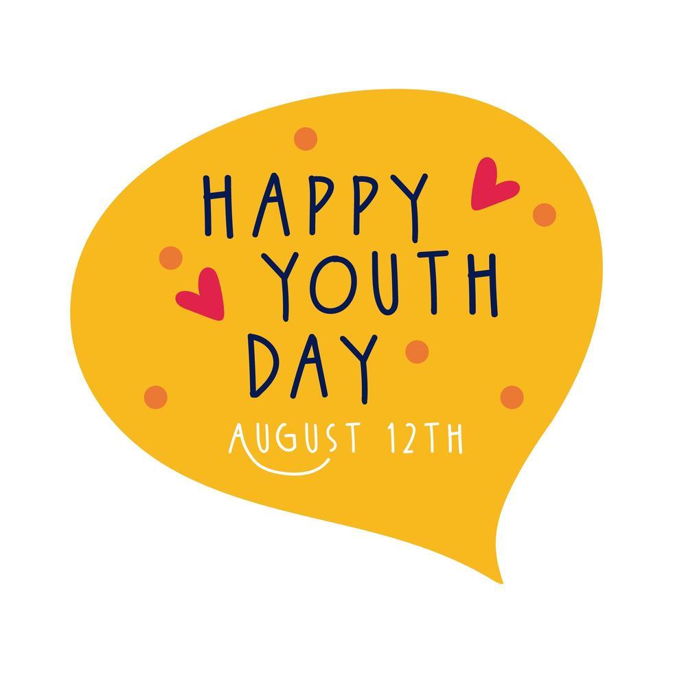 Feliz Día De La Juventud Letras En Estilo Plano De Burbujas De Discurso Descargar Vectores Gratis Illustrator Graficos Plantillas Diseño