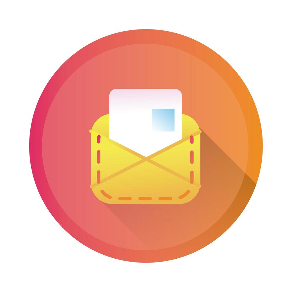 envelope mail detailed style icon vector