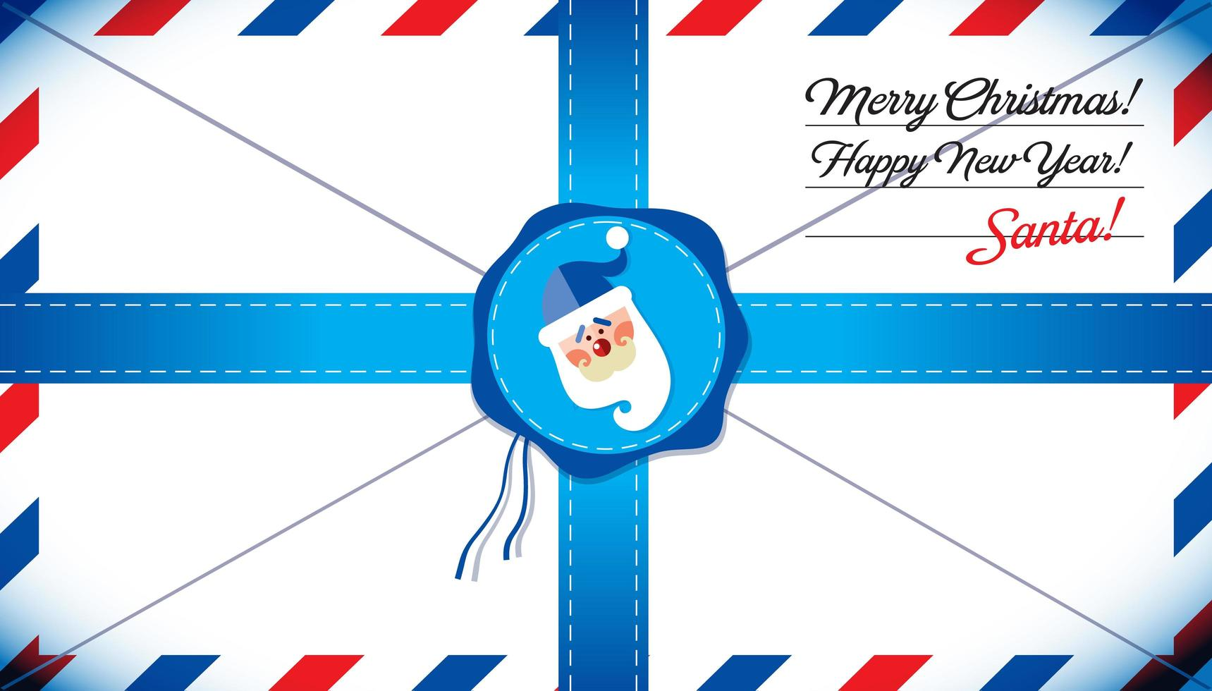 Mail template of Santa Claus vector