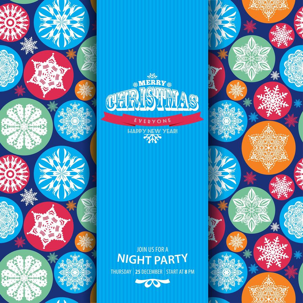 Bright seamless pattern of snowflakes vector