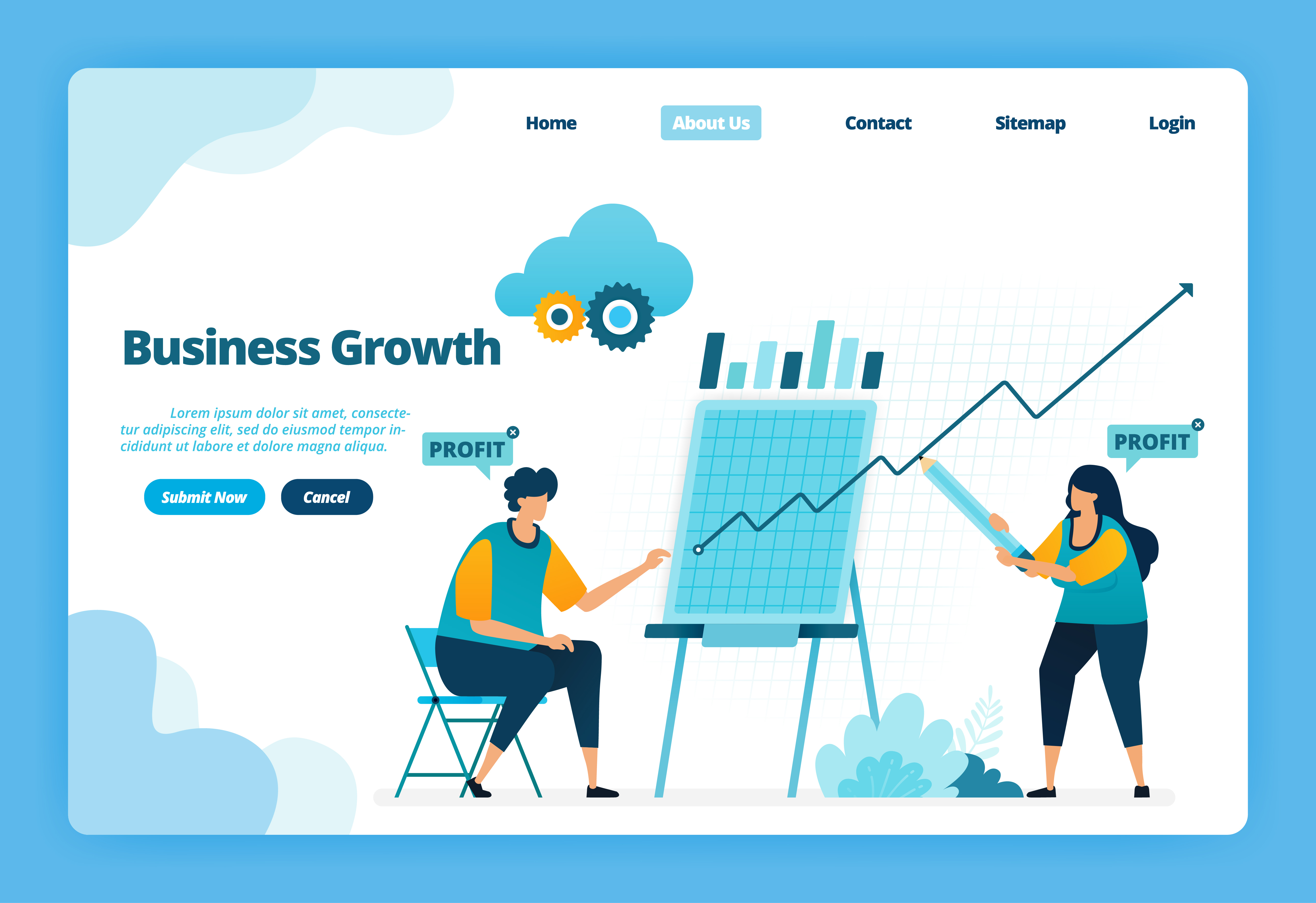 landing page of business growth. planning a strategy to increase the  company's sales and profits. illustration of landing page, website, mobile  apps, poster, flyer 1871067 vector art at vecteezy  vecteezy