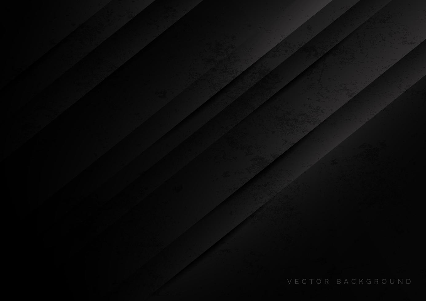 Abstract modern shape black gradient geometric stripes diagonal background with grunge texture. vector