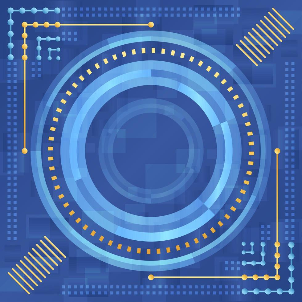 Blue and Gold Abstract Technology Concept vector