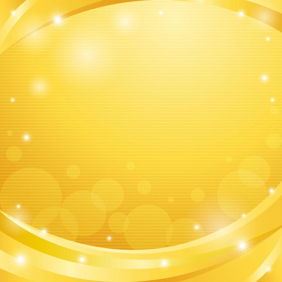 Luxury Abstract Gold Wave with Sparkling Stars vector
