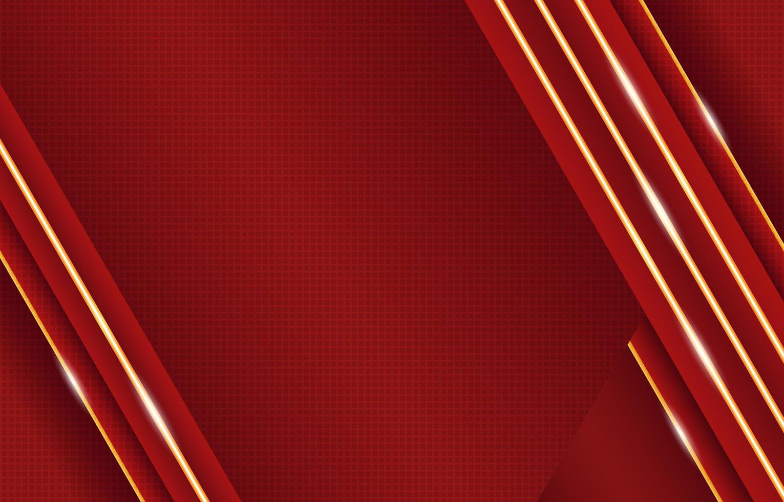 Luxury Red Gold with Neon Lights Composition vector