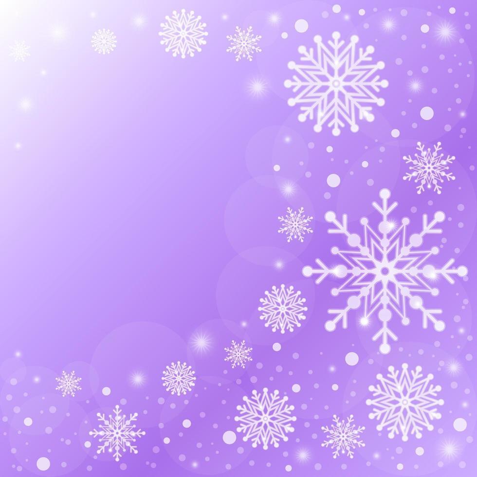 Elegant Gradient Purple Snowflakes Background vector